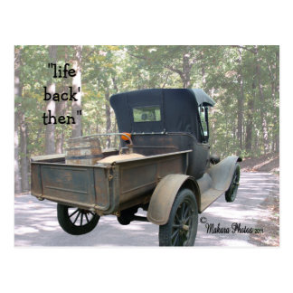 antique truck & still postcard- customise postcard