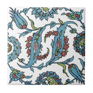 Antique Turkish Floral Composision Ceramic Tile