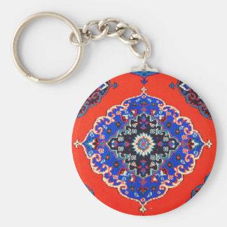 Antique Turkish Textiles Carpets Rugs Kilims Basic Round Button Key Ring
