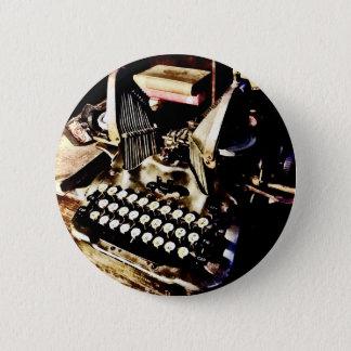 Antique Typewriter Oliver #9 6 Cm Round Badge