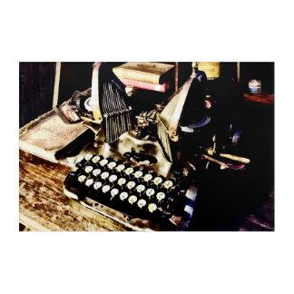 Antique Typewriter Oliver #9 Acrylic Wall Art