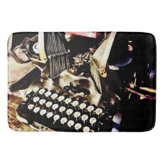 Antique Typewriter Oliver #9 Bath Mat