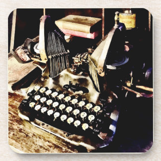Antique Typewriter Oliver #9 Coaster