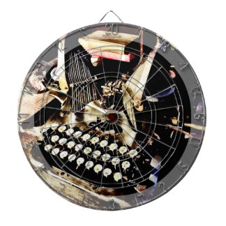 Antique Typewriter Oliver #9 Dartboard