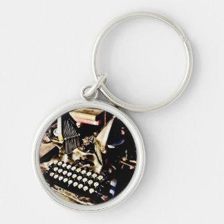 Antique Typewriter Oliver #9 Key Ring