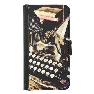 Antique Typewriter Oliver #9 Samsung Galaxy S5 Wallet Case