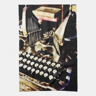 Antique Typewriter Oliver #9 Tea Towel