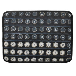Antique Typewriter Sleeves For MacBooks