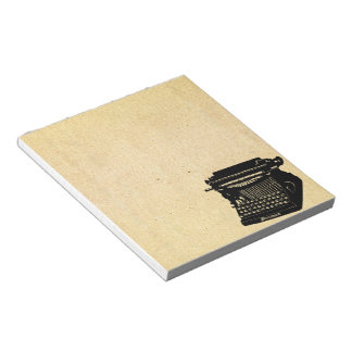 Antique Typewriter Vintage Picture Notepad