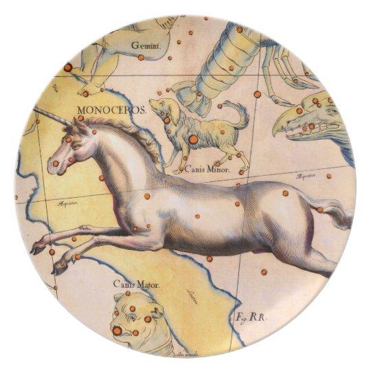 Antique Unicorn Horse Art Vintage Wall Decor Plate