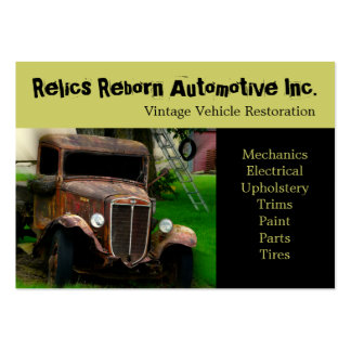 Antique Vehicle  Old Truck  Repair Shop Pack Of Chubby Business Cards