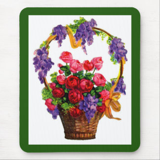 Antique Victorian Basket of Roses ... Mouse Pad