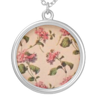 Antique Victorian Rose Wallpaper Necklace