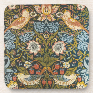 Antique Victorian William Morris Flowers Birds Coaster