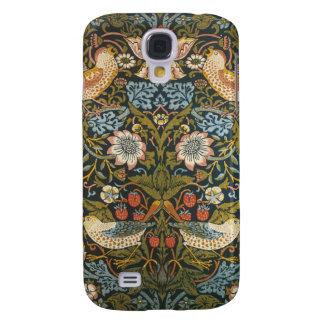 Antique Victorian William Morris Flowers Birds Samsung Galaxy S4 Cases