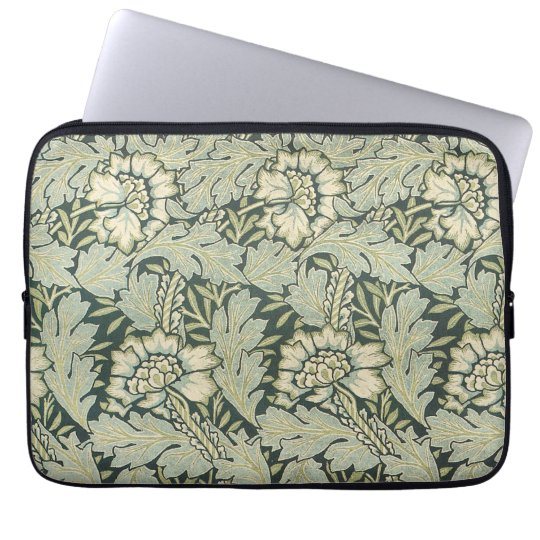 Antique Victorian William Morris Garden Flowers Laptop Sleeve