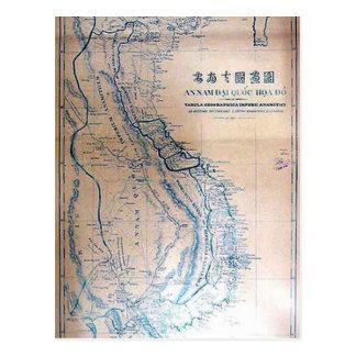 Antique Vietnamese map Postcard