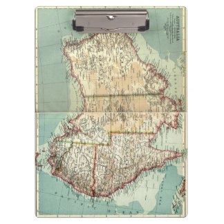 Antique Vintage Australian continent detailed map Clipboard