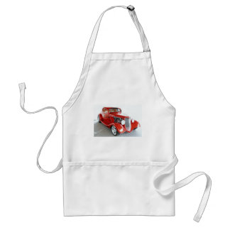 Antique Vintage Collector RED car Apron