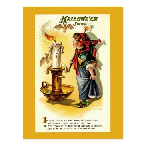 Antique / Vintage Halloween Fortune Postcard