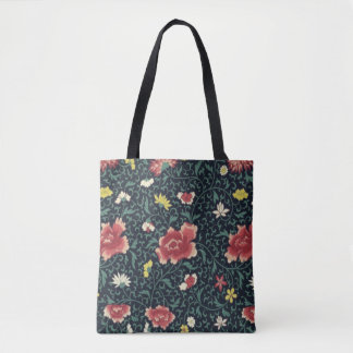 Antique Vintage Pretty Floral Pattern Tote Bag