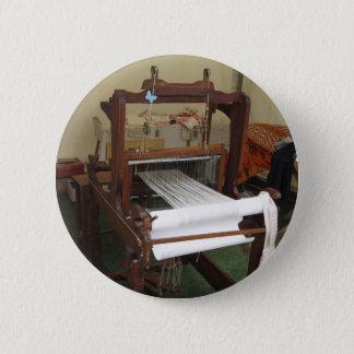 Antique vintage spinner machine working 6 cm round badge