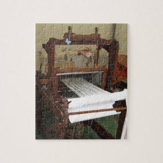 Antique vintage spinner machine working jigsaw puzzle