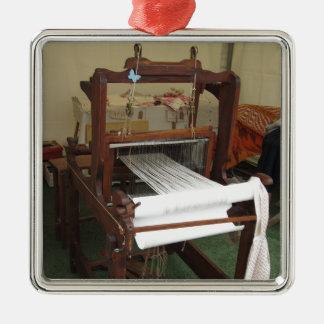 Antique vintage spinner machine working metal ornament
