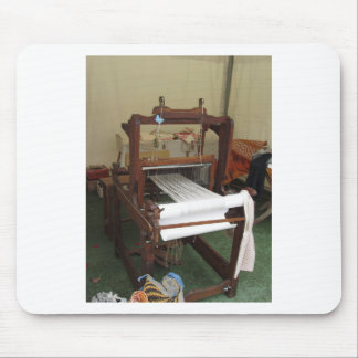 Antique vintage spinner machine working mouse pad