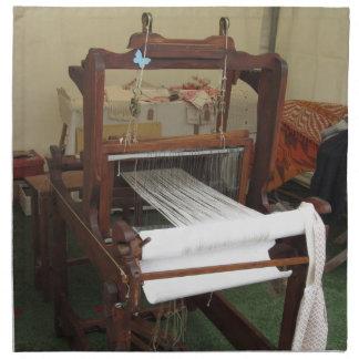 Antique vintage spinner machine working napkin