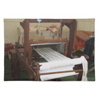 Antique vintage spinner machine working placemat