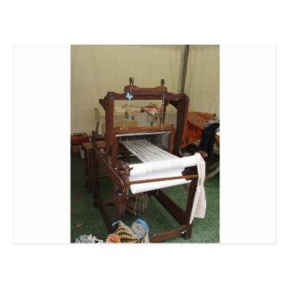 Antique vintage spinner machine working postcard