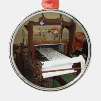 Antique vintage spinner machine working Silver-Colored round decoration