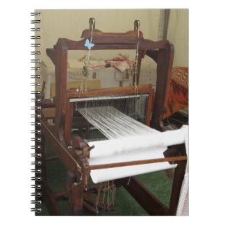 Antique vintage spinner machine working spiral notebook
