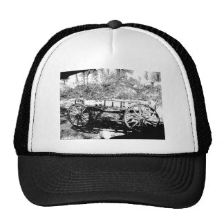 Antique Wagon in Pen and Ink Drawing Hat