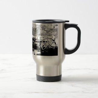 Antique Wagon in Pen and Ink Drawing Mugs