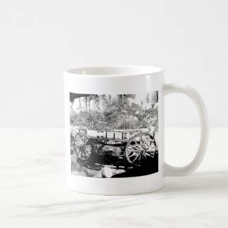 Antique Wagon in Pen and Ink Drawing Coffee Mugs