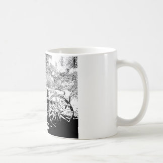 Antique Wagon in Pen and Ink Drawing Mug