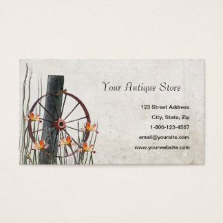 Antique Wagon Wheel Business Cards