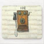 antique wall phone mousepad