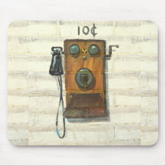 antique wall phone mousepad