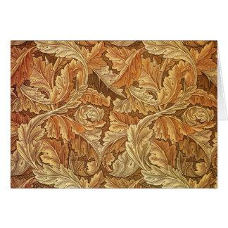 Antique Wallpaper Leaves - Acanthus Card