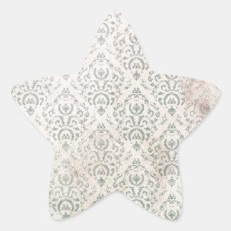 Antique wallpaper pattern star sticker