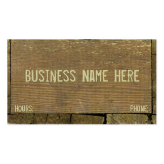 Antique Weathered Wood Business Card Templates