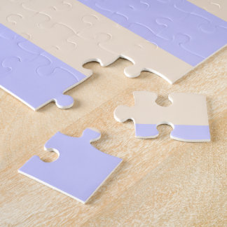 Antique White and Lavender Blue Stripes Jigsaw Puzzle