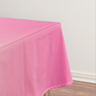Antique White and Winter Sky Pink Ombre Pattern Tablecloth