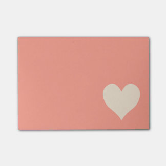 Antique White Cute Heart Shape Post-it Notes