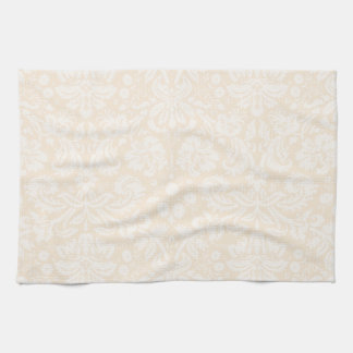 Antique White Damask Pattern Kitchen Towel