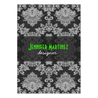 Antique White & Gray Traditional Floral Lace Business Card Templates