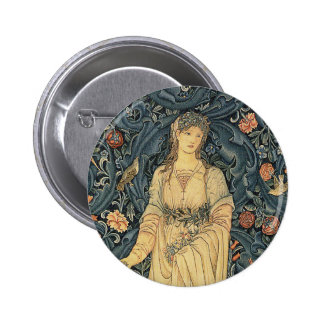 Antique William Morris Flora 6 Cm Round Badge